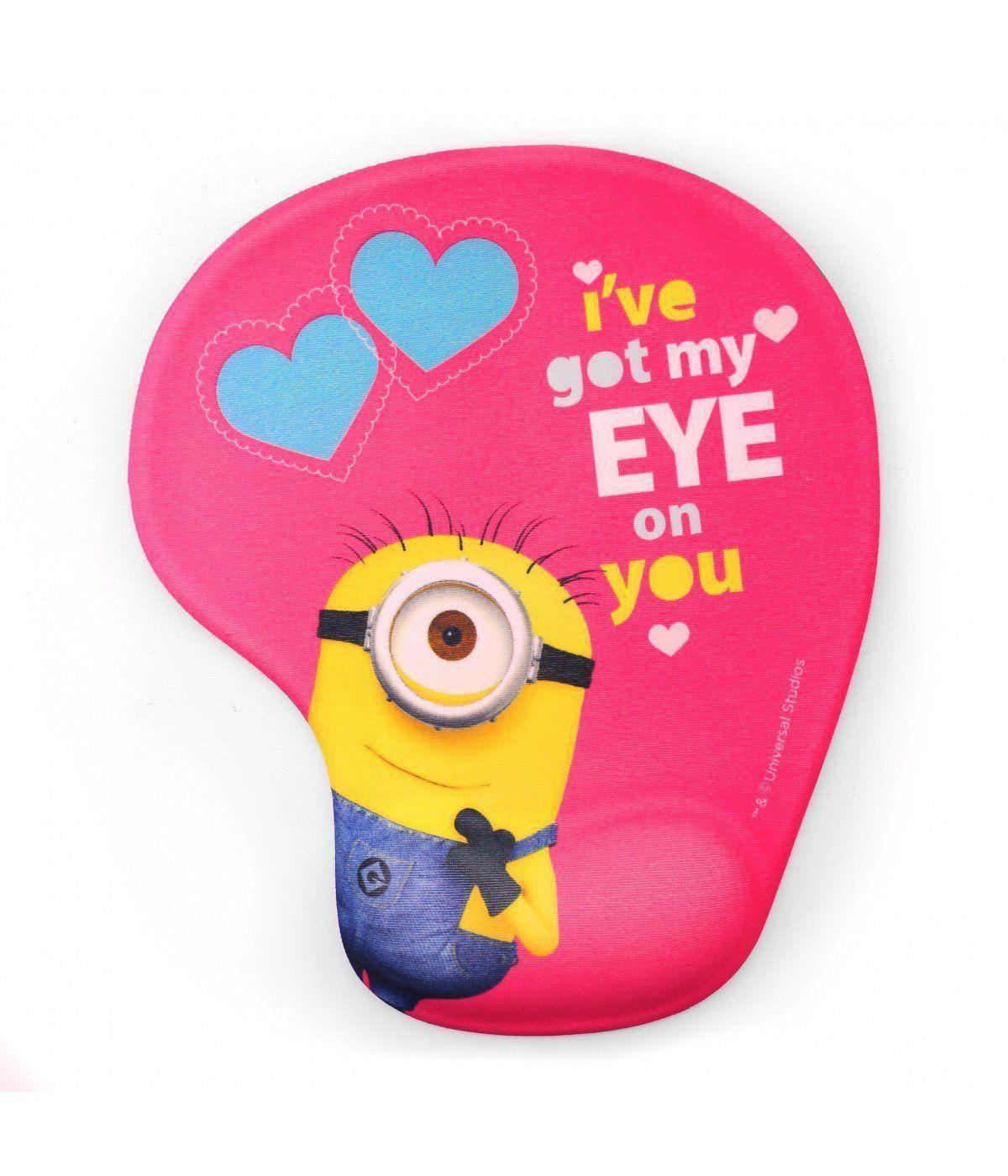 Mousepad Com Apoio Em Gel Minions (I´ve Got My Eye On You): Meu Malvado Favorito