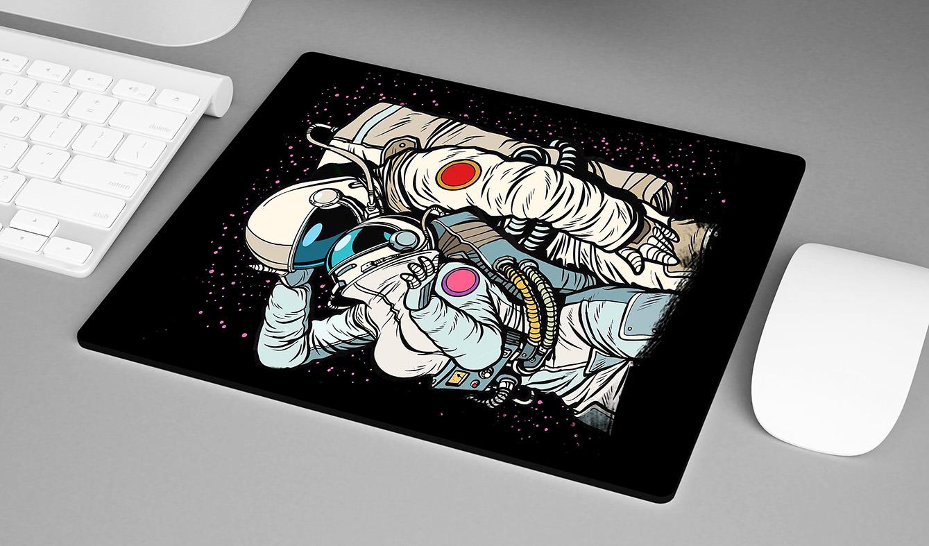 Mousepad Cosmic Love Astronauts Amor Cósmico Astronauta Space Nasa - EV