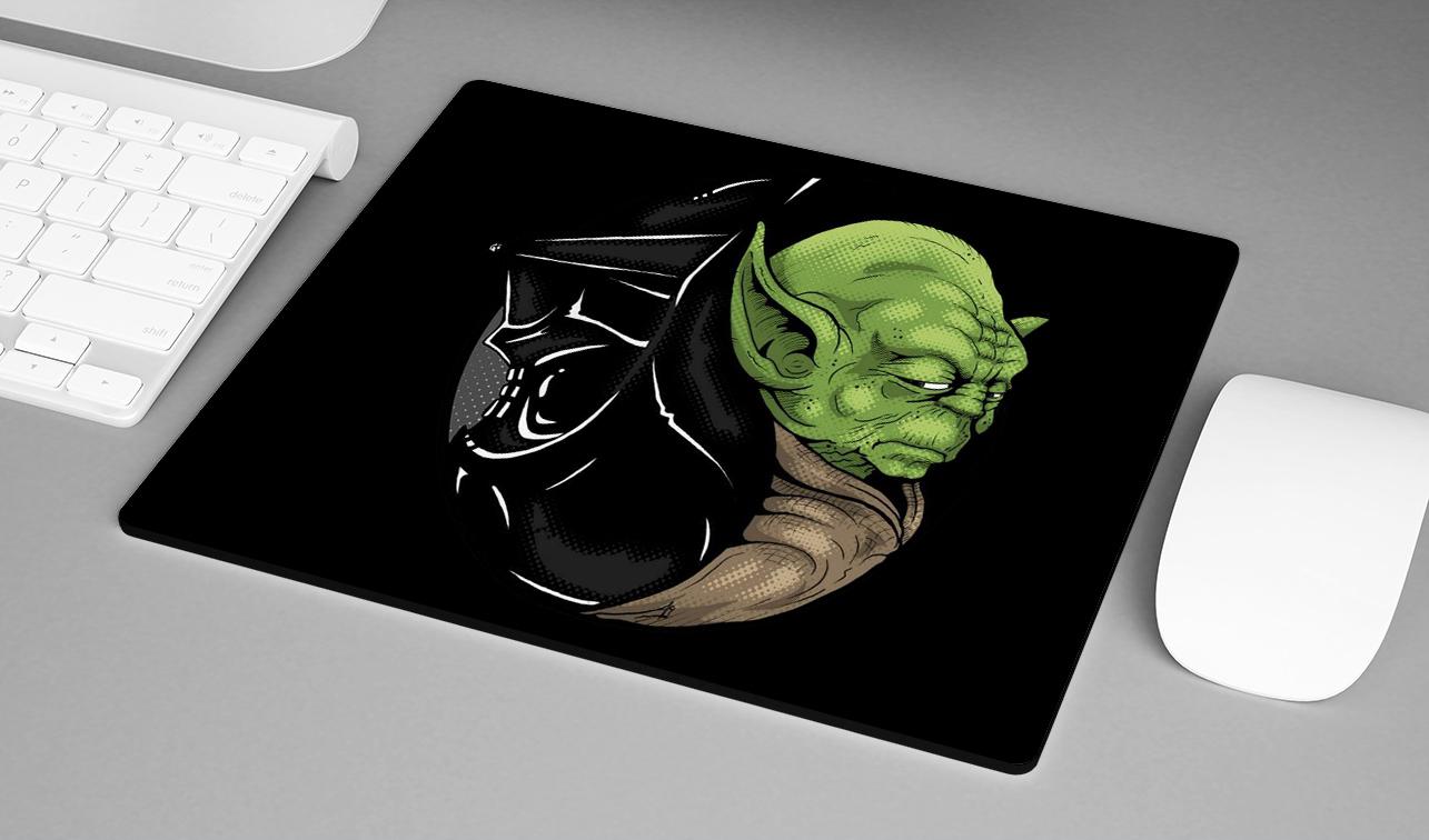 Mousepad Darth Vader Yoda Jedi Yin Yang: Star Wars - EV