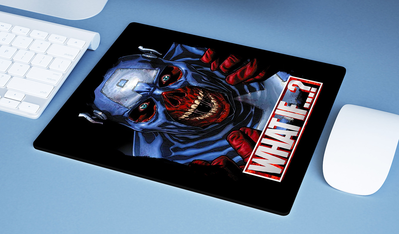 Mousepad E Se...? Capitão América Caveira Vermelha Captain America Red Skull What If...? Marvel Studios Disney+ - EV
