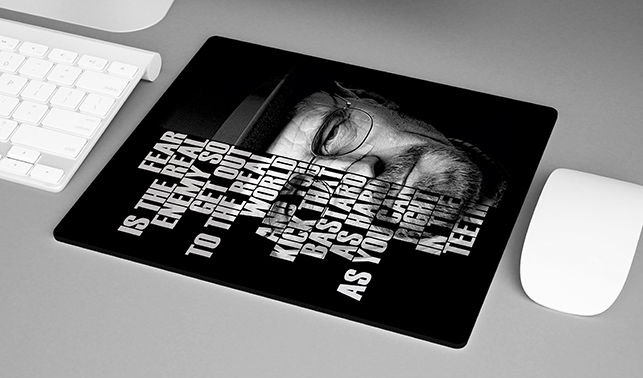 Mousepad Fear is The Real Enemy so Get Out to The Real World Walter White: Breaking Bad - EV