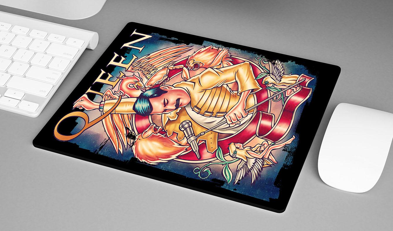Mousepad Freddie Mercury Queen Rock Legends Poster - EV