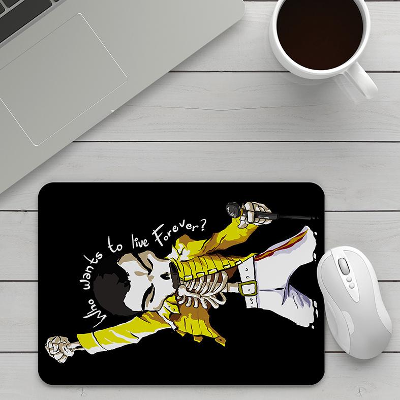 Mousepad Freddie Mercury Quem Quer Viver Para Sempre Caveira Rock Skull: Queen - EV