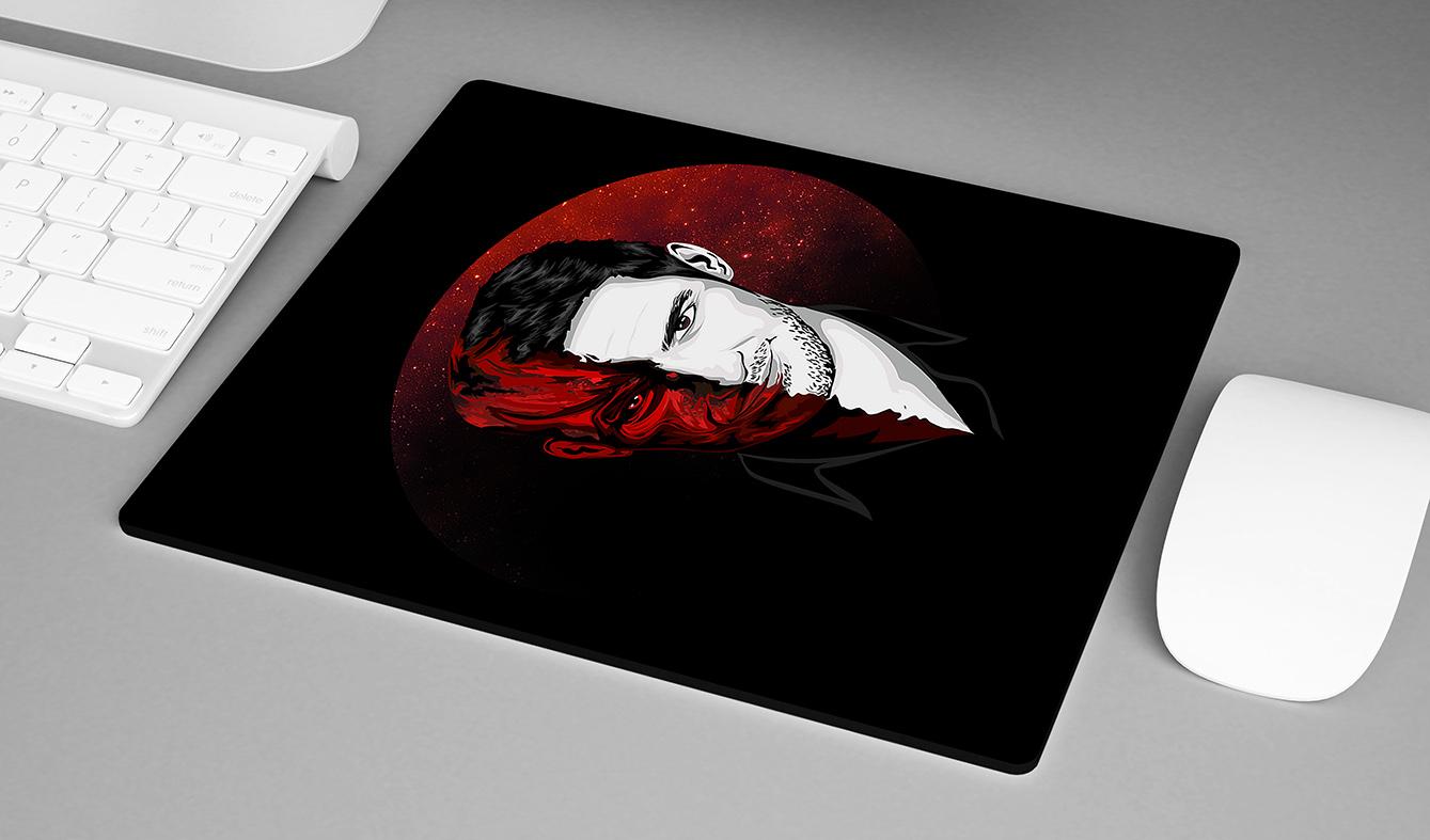 Mousepad Half Demon Half Man The Devil Lucifer Morningstar Netflix - EV