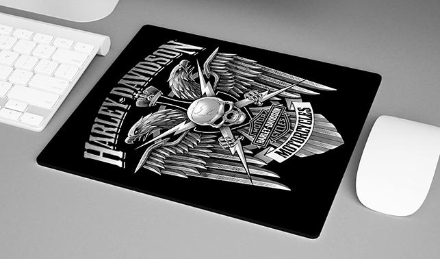 Mousepad Harley Davidson Skull Eagle Motorcycle - EV