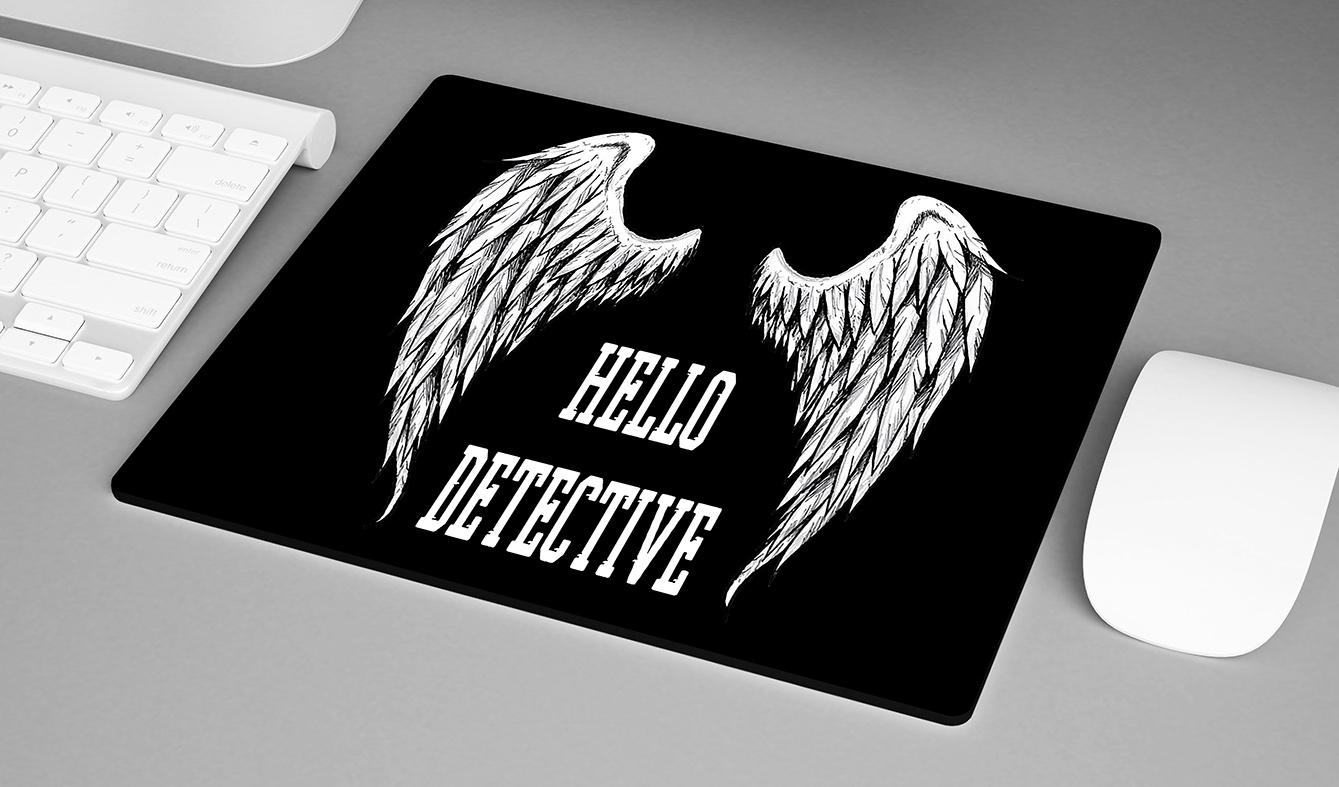 Mousepad Hello Detective The Devil Lucifer Morningstar Netflix - EV