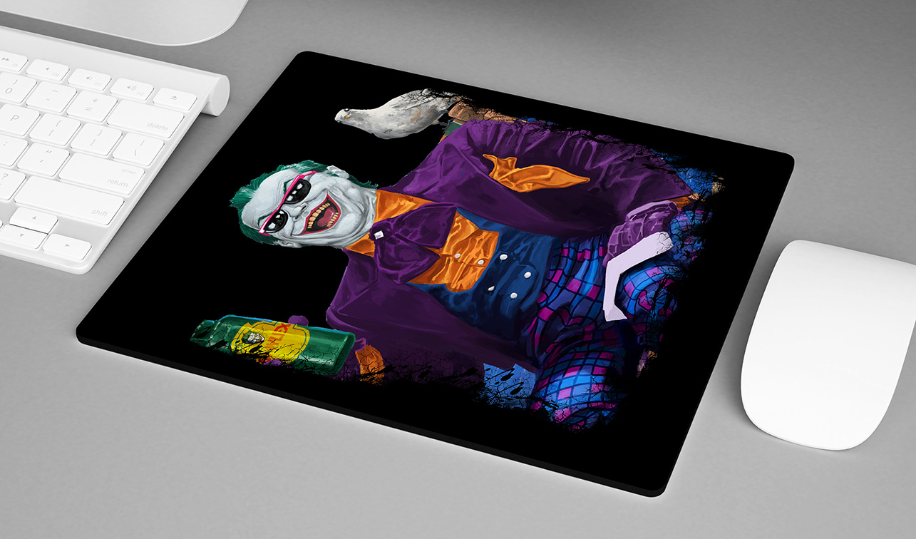 Mousepad Jack Nicholson's Joker is About the Best One Out There: Joker Coringa - EV