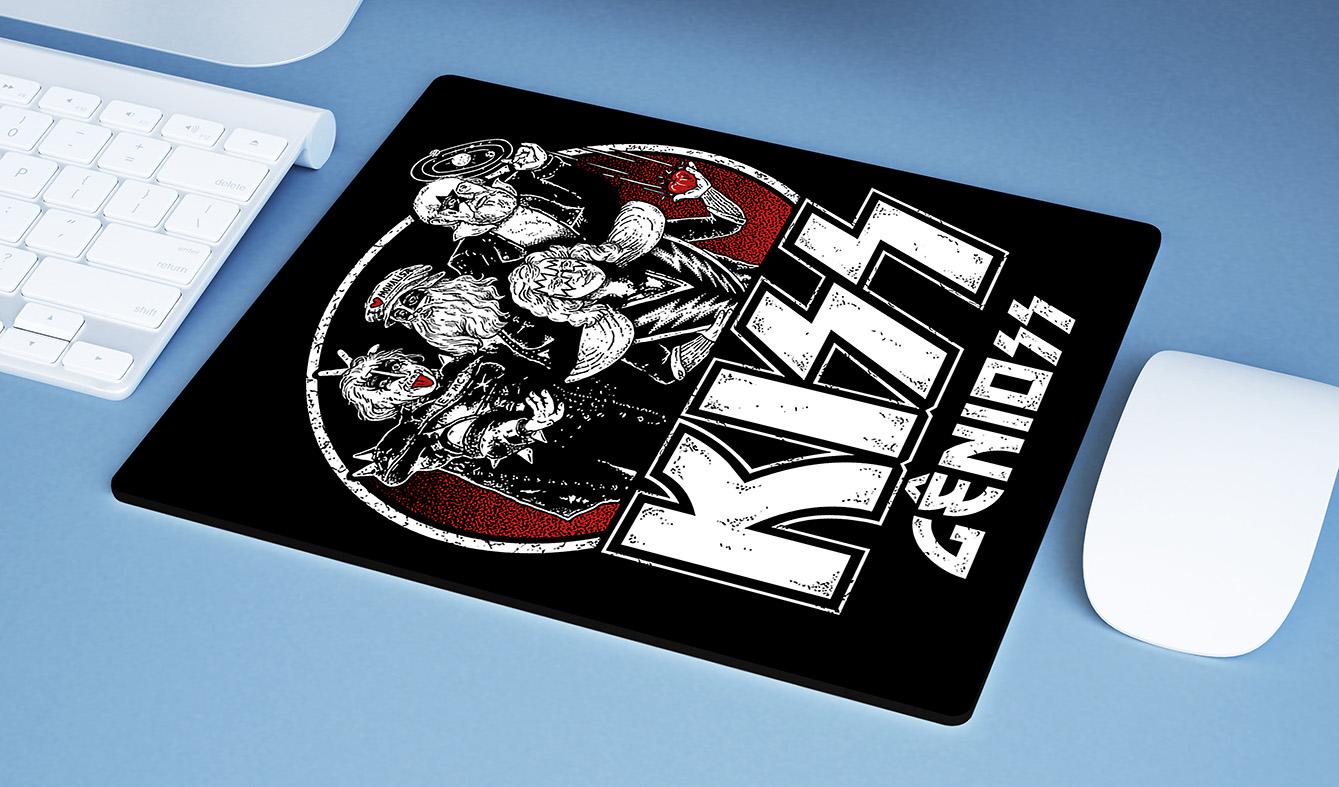Mousepad Kiss Gênioss Humor Ilustração Hard Rock Gênios - EV