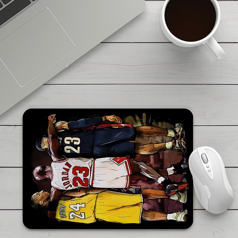 Mousepad Kobe Bryant Michael Jordan Lebron James Basquete: NBA - EV