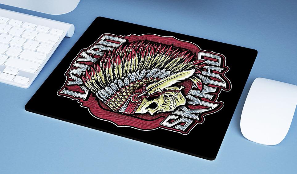Mousepad Lynyrd Skynyrd American Rock Band Skull - EV