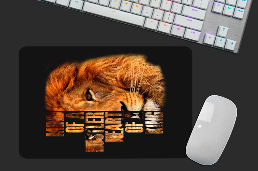 Mousepad Mind of a Hustler Heart Of a King Lion - EV