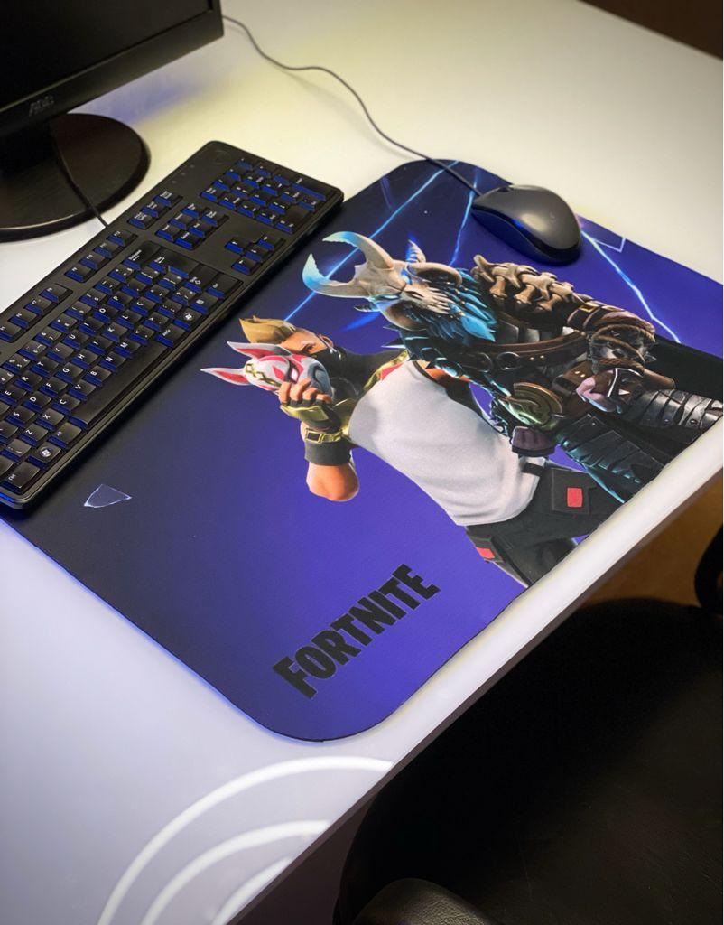 Mousepad Mouse Pad Gamer Grande Atemporal Kitsume e Ragnarok 5° Temporada: Fortnite Battle Royale