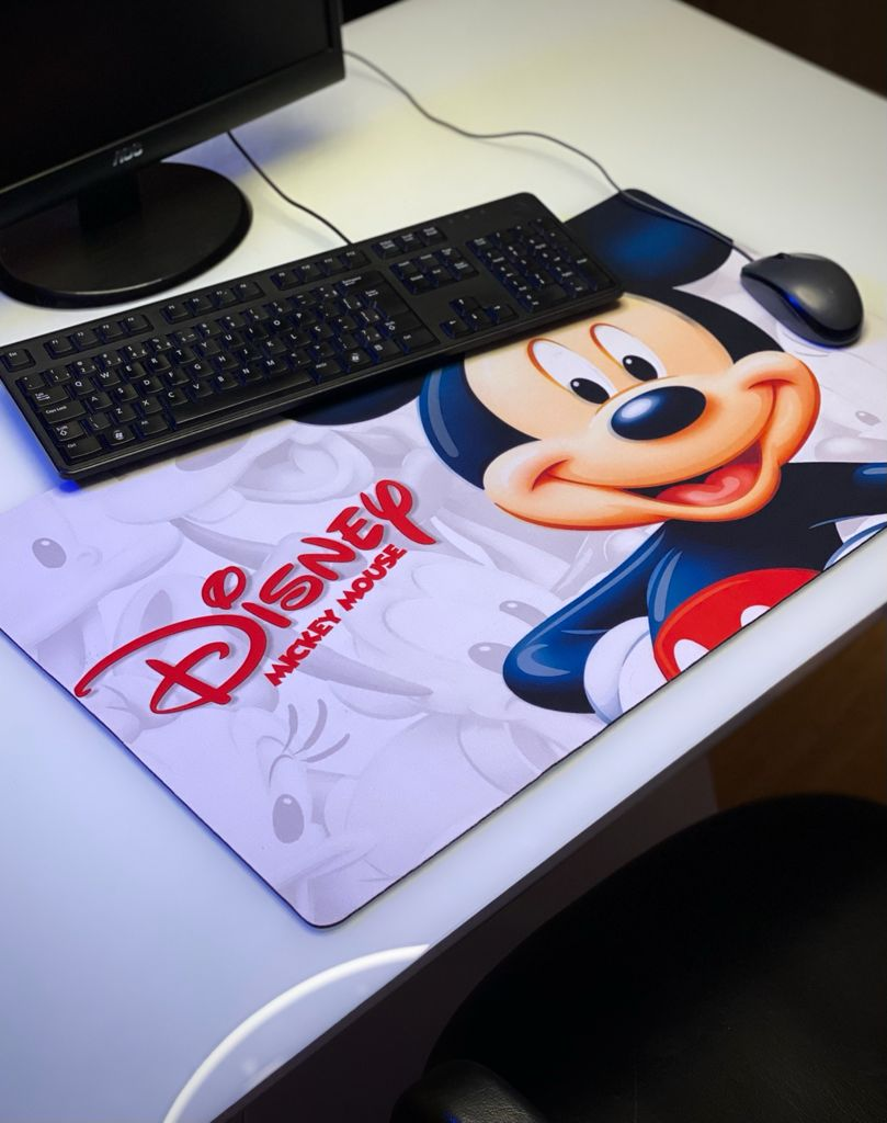 Mousepad Mouse Pad Gamer Grande Mickey Mouse: Mickey e Minnie Mouse Disney