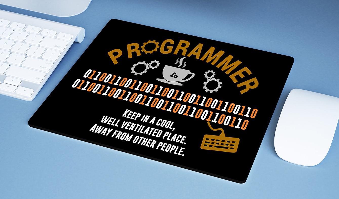 Mousepad Programador Manter Em Um Local Compacto E Bem Ventilado Longe De Outras Pessoas Dev Código Binário - EV