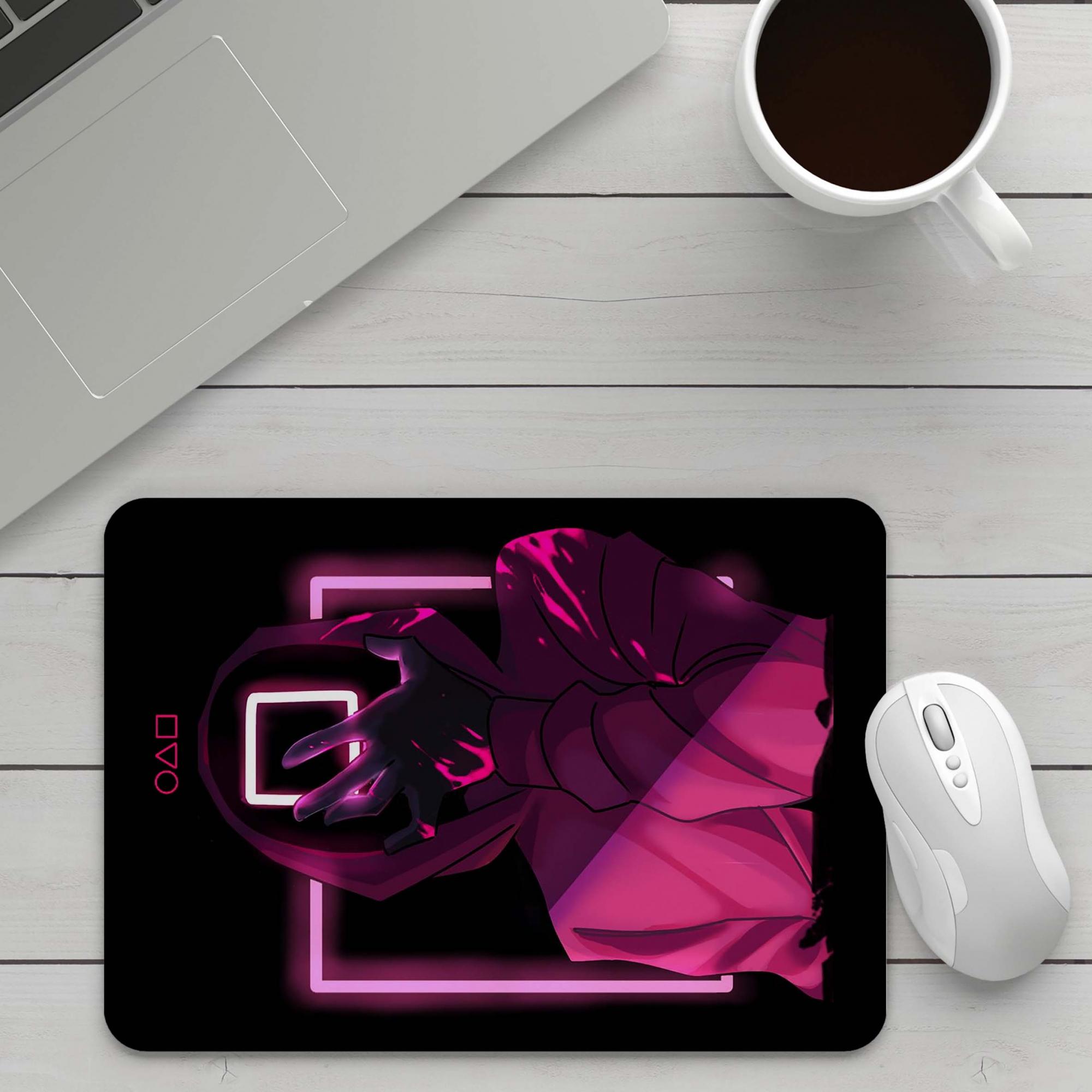 Mousepad Round 6 Squid Game Mascara Netflix - EV