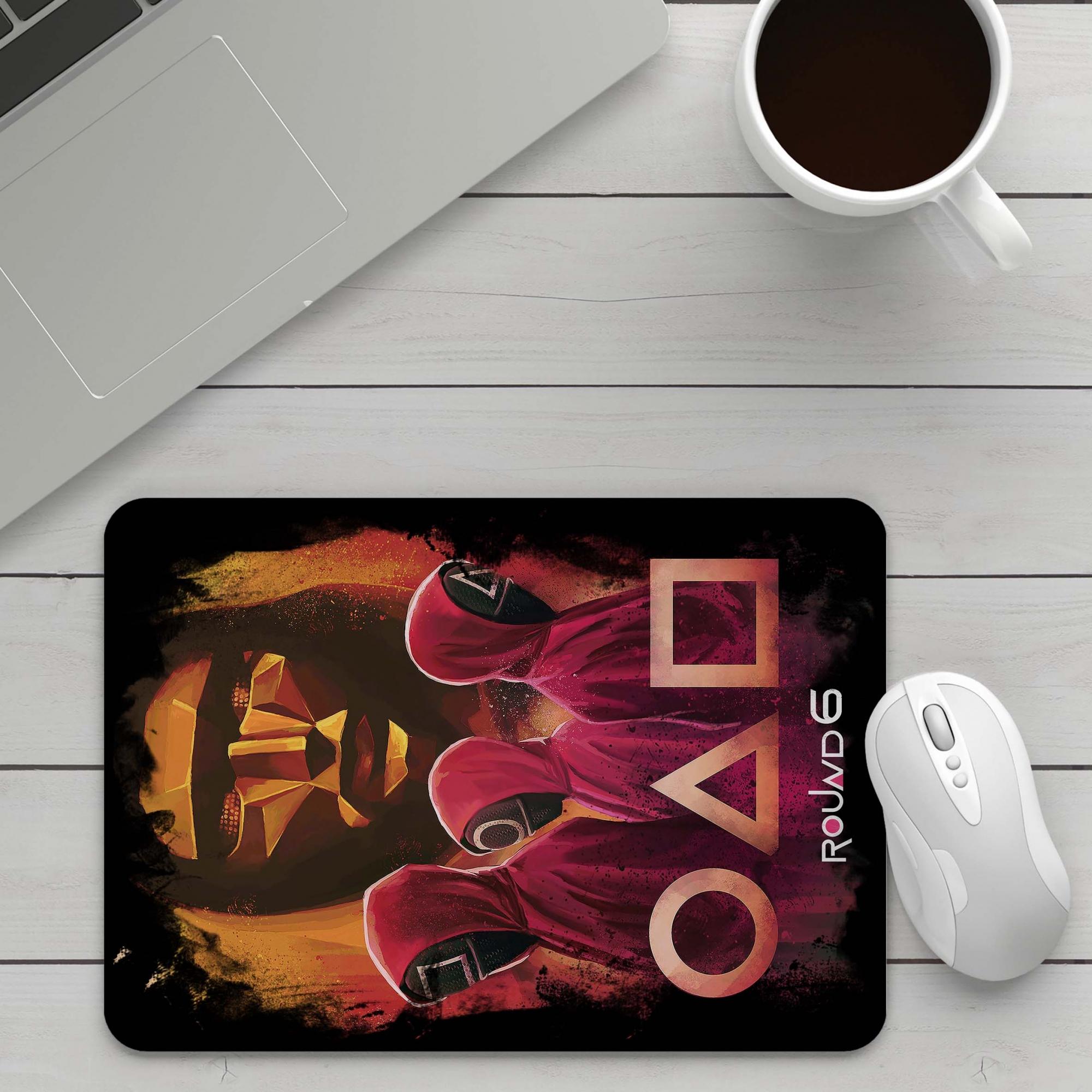 Mousepad Round 6 Squid Game Netflix Bola Retangulo Quadrado - EV