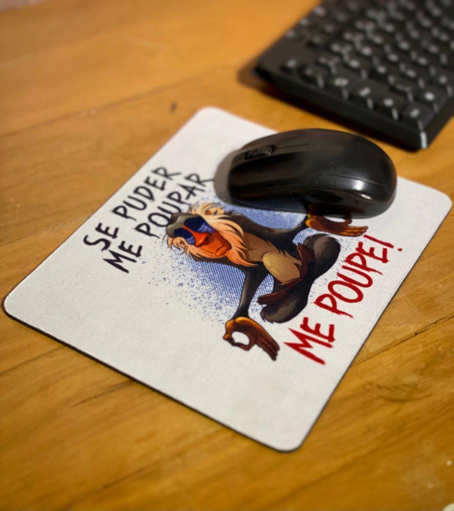 Mousepad: Se Puder Me Poupar ''Me Poupe'' - Rei Leão
