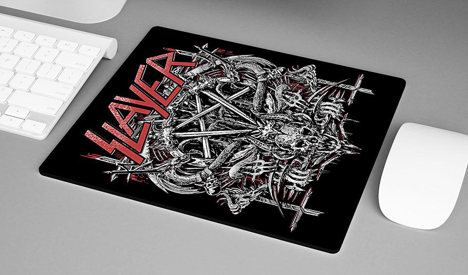 Mousepad Slayer Metal Bands Skull - EV