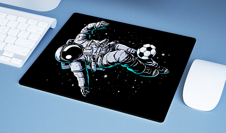 Mousepad Space Nasa Football Astronauts Astronauta Futebol - EV
