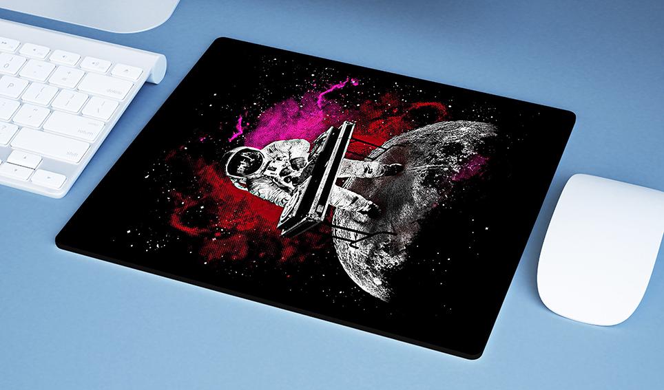 Mousepad Space Nasa Galaxy Dj Astronauts Astronauta - EV