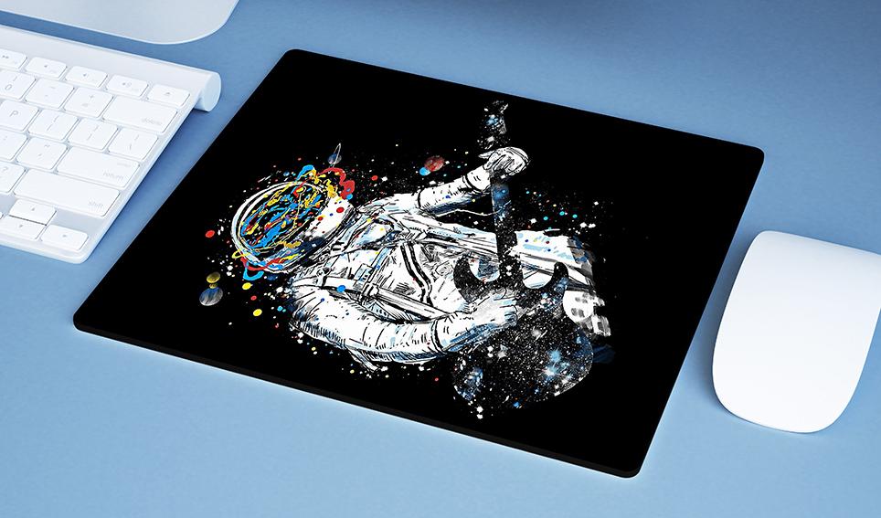 Mousepad Space Nasa Guitar Music Astronauts Colors Astronauta - EV