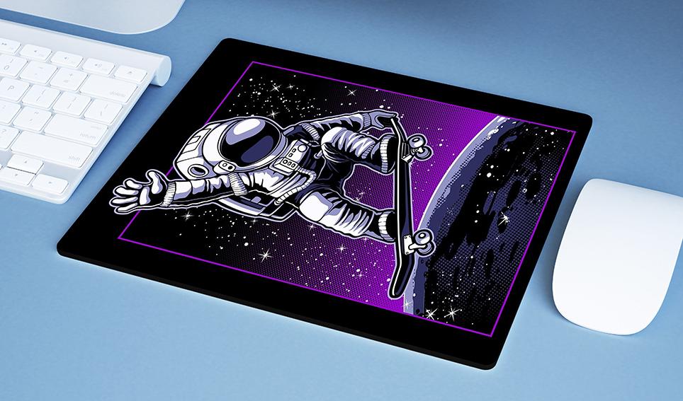 Mousepad Space Nasa Skate Moon Ollie Astronauts Astronauta - EV
