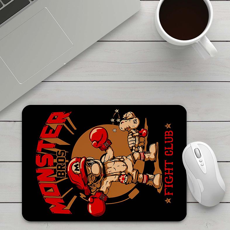 Mousepad Super Mario Bros Clube Da Luta Boxe Monster Bros Fight Club - EV