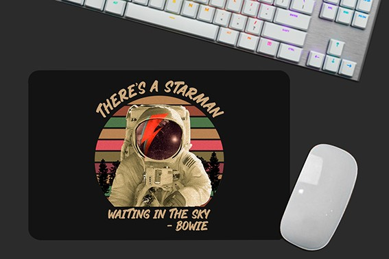 Mousepad Astronauta Nasa There's a Starman Waiting in the Sky: Bowie Mouse Pad - EV