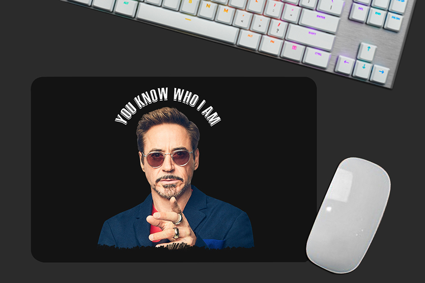 Mousepad You Know Who I Am Robert Downey Jr Tony Stark: Iron Man Homem de Ferro - EV