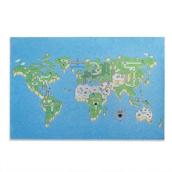 Mural Metálico Mapa: Super Mario Bros