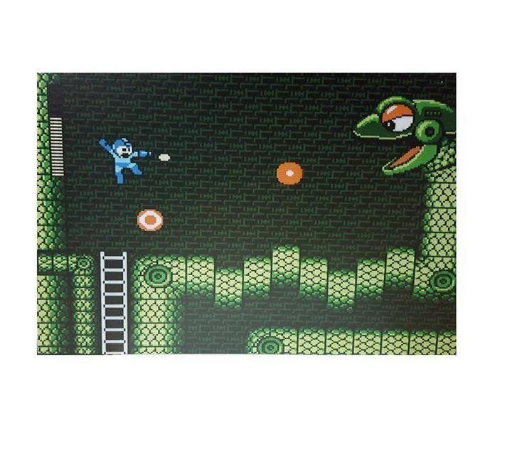 Mural Metálico Mega Man - Fabrica Geek