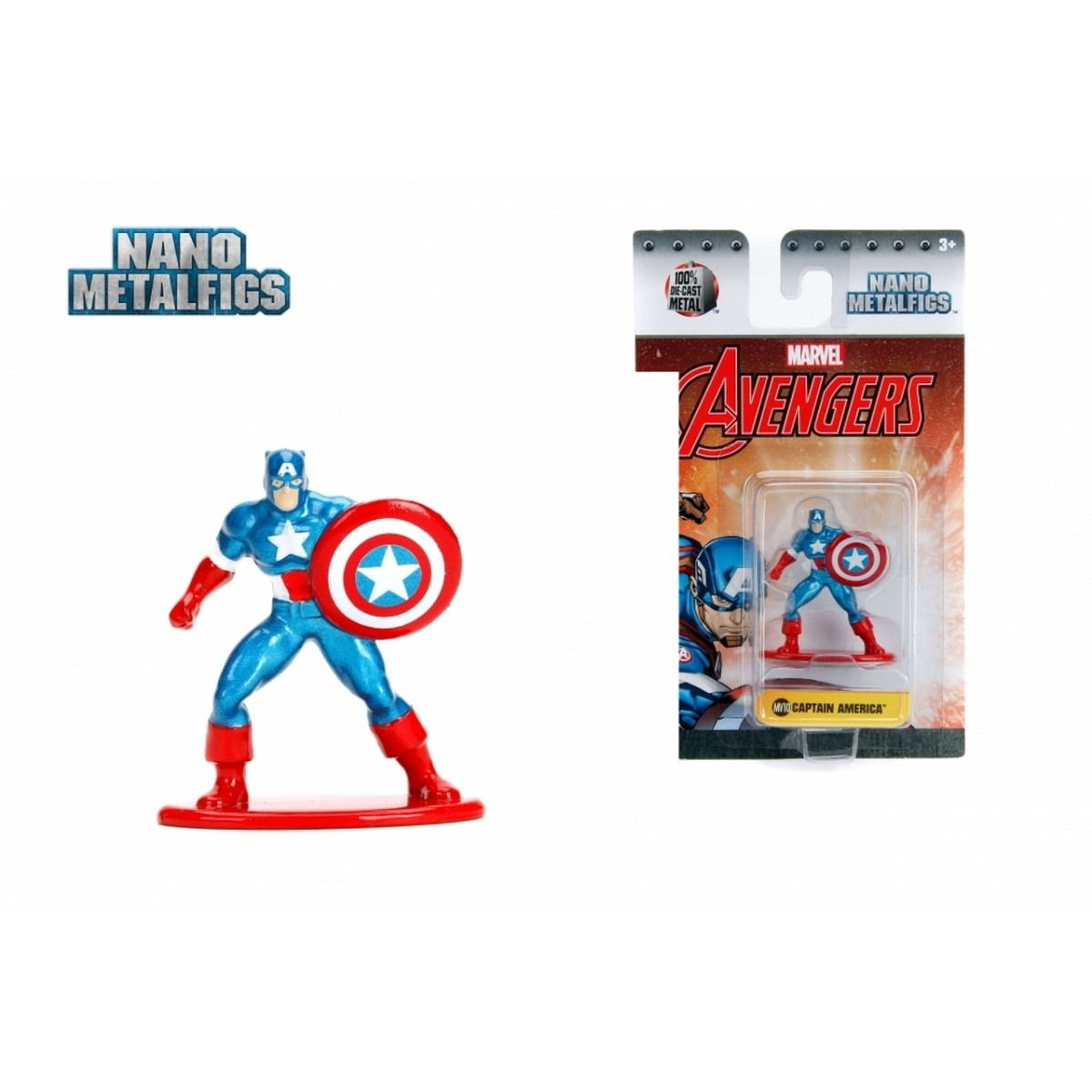 Nano Metalfigs: Capitão América: Marvel (MV10)