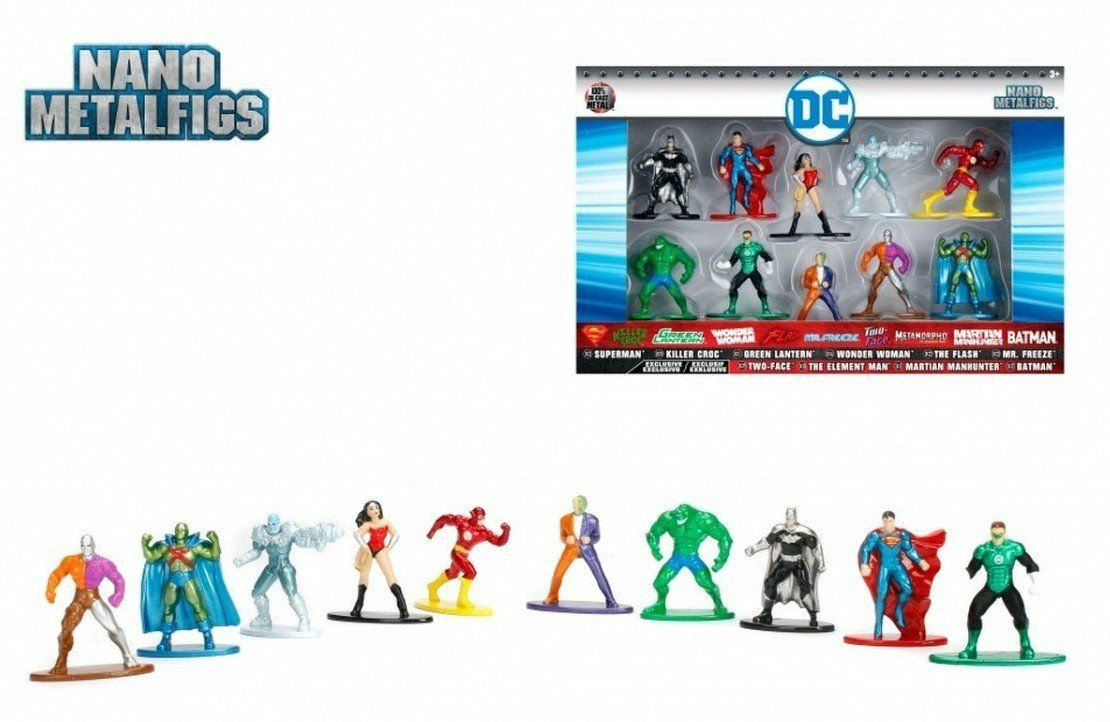 Nano Metalfigs: DC Comics (Set de 10) - Jada Toys