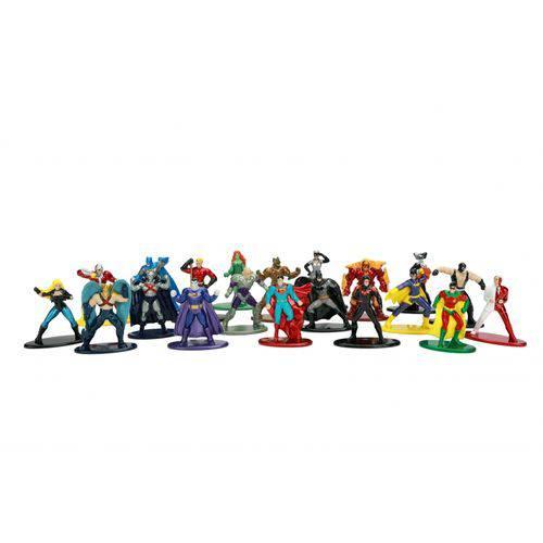 Nano Metalfigs: DC Comics (Set de 20) Liga da Justiça - Jada Toys