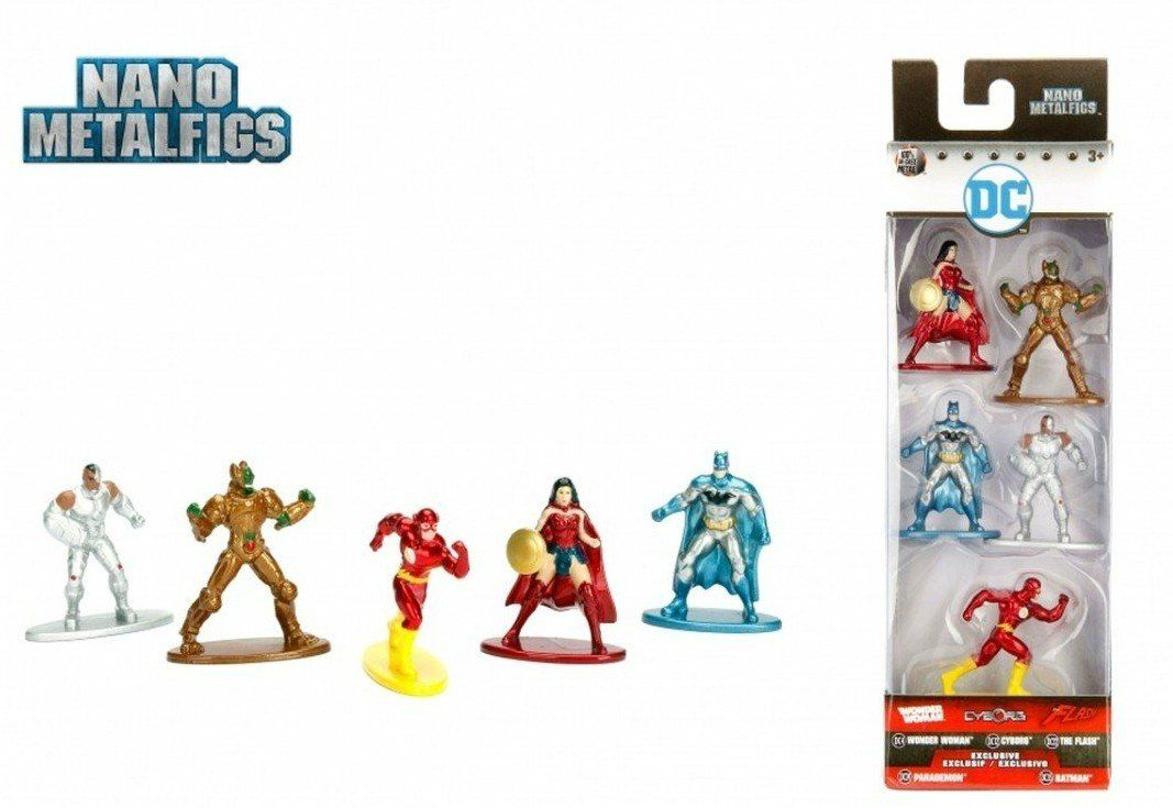 Nano Metalfigs: DC Comics (Set de 5) - DTC