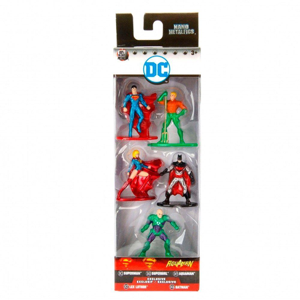 Nano Metalfigs: DC Comics (Set de 5) (Pack B) - DTC