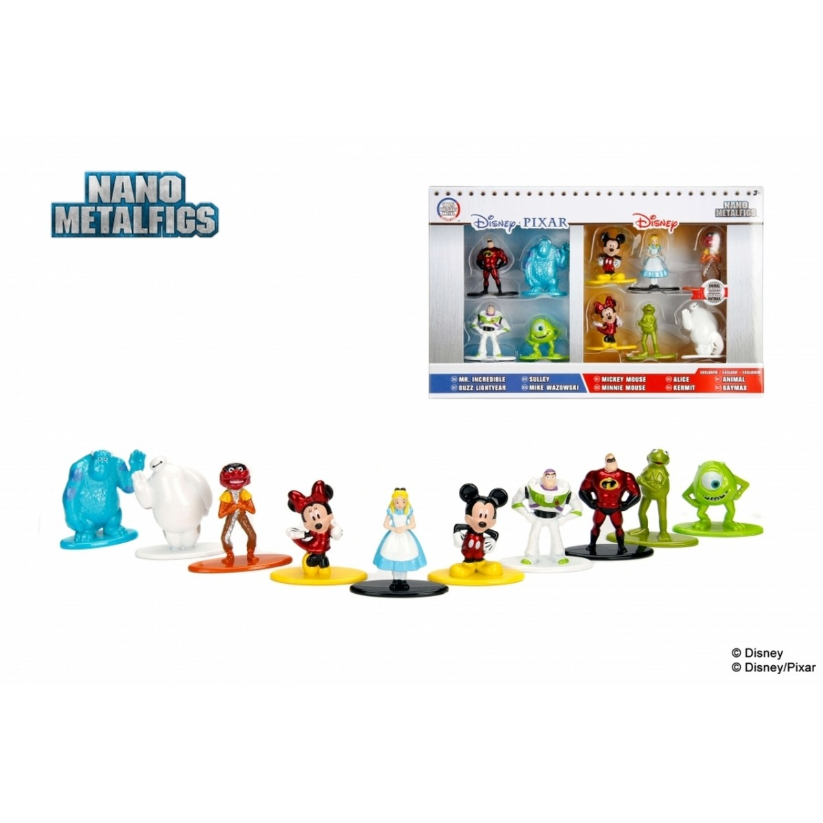 Nano Metalfigs: Disney/Pixar (Set de 10)