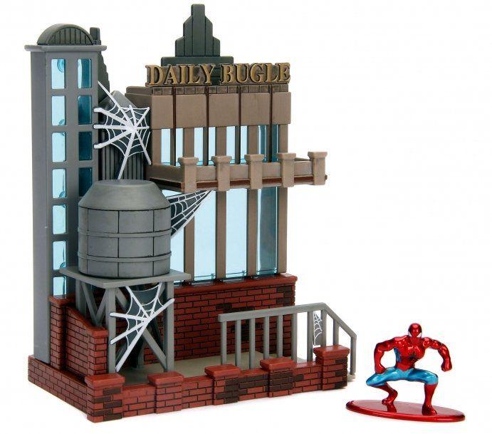 Nano Metalfigs Homem-Aranha (Spider-Man): Clarim Diário (Daily Bugle) Nano Scene - DTC