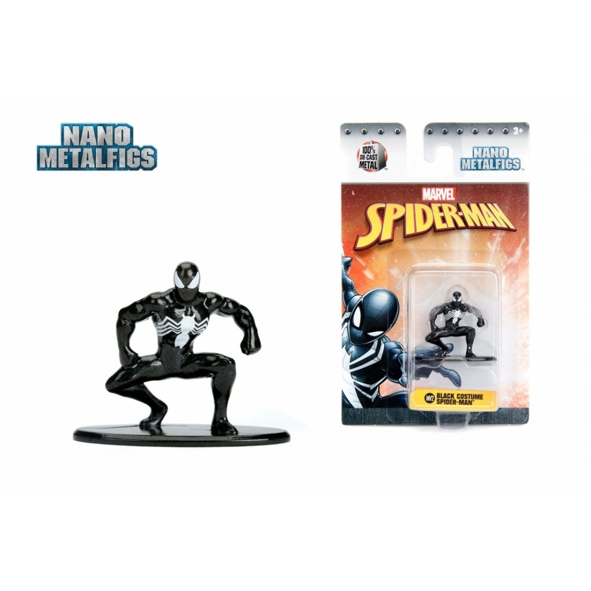 Nano Metalfigs: Homem-Aranha Uniforme Preto (Spider-Man Black Costume): Marvel (MV2)