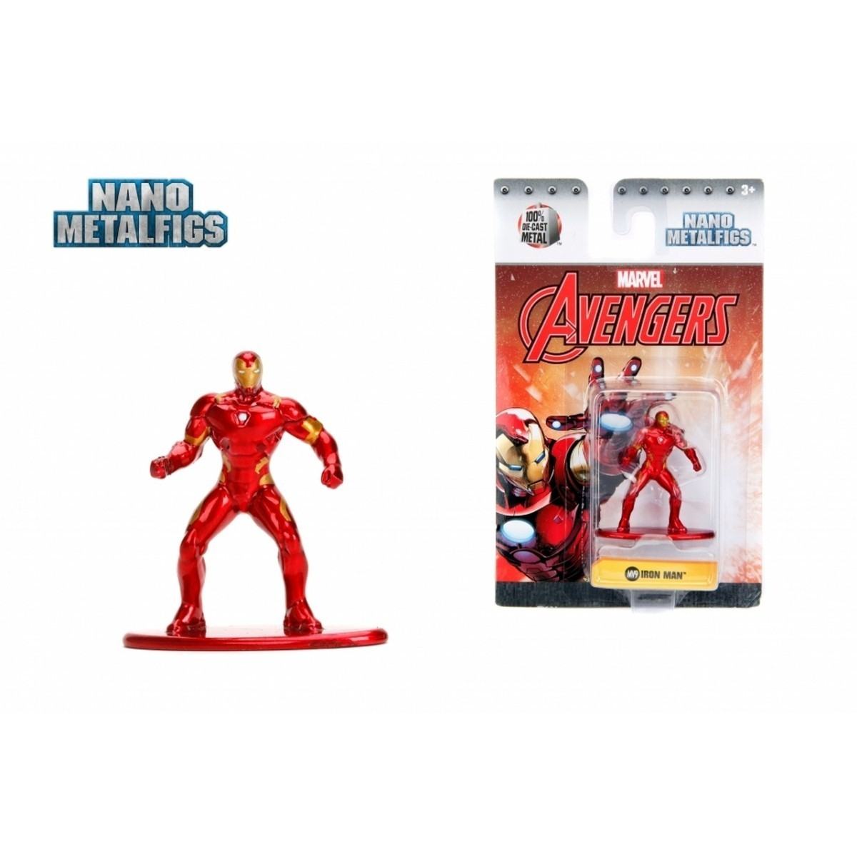 Nano Metalfigs: Homem de Ferro (Iron Man): Marvel (MV9)