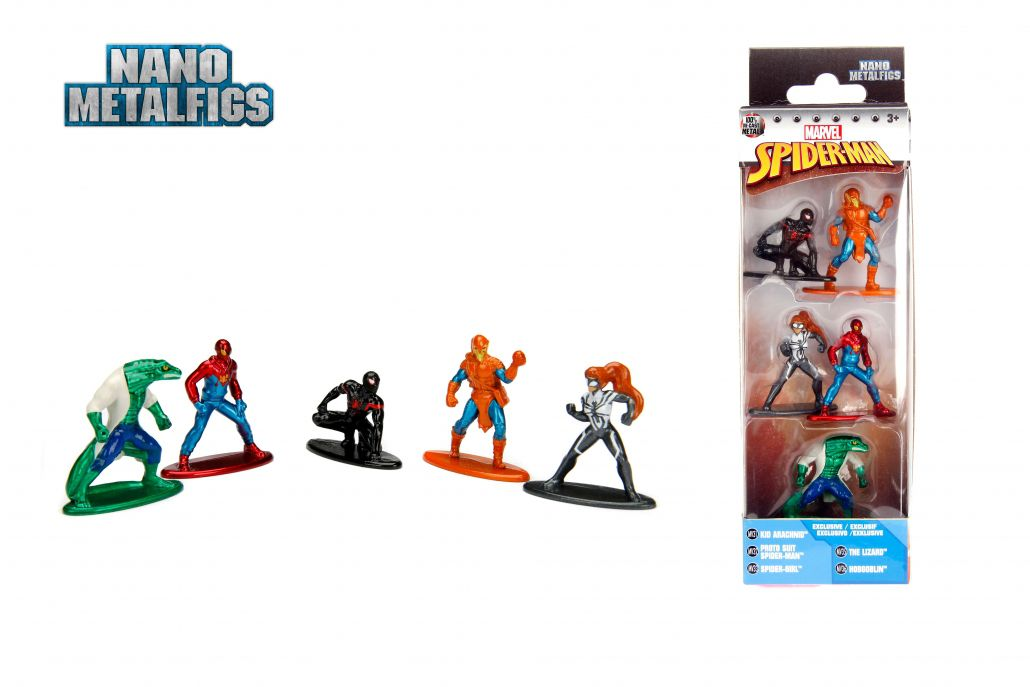 Nano Metalfigs: Marvel Homem-Aranha (Spider-Man) Pack A (Set de 5) - DTC