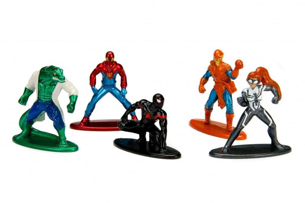 Nano Metalfigs: Marvel Homem-Aranha (Spider-Man) Pack A (Set de 5) - DTC