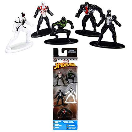 Nano Metalfigs: Marvel Homem-Aranha (Spider-Man) Pack B (Set de 5) - DTC