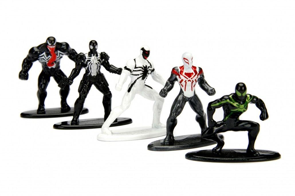 Nano Metalfigs: Marvel Homem-Aranha (Spider-Man) Pack B (Set de 5) - DTC