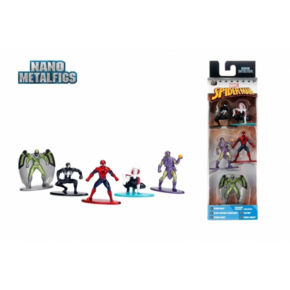 Nano Metalfigs: Marvel Homem-Aranha (Spider-Man) (Set de 5) - Jada Toys