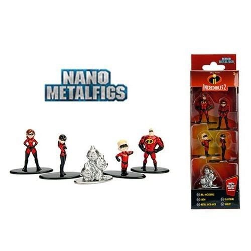 Nano Metalfigs Os Incríveis 2: Disney (Set de 5) - Jada Toys