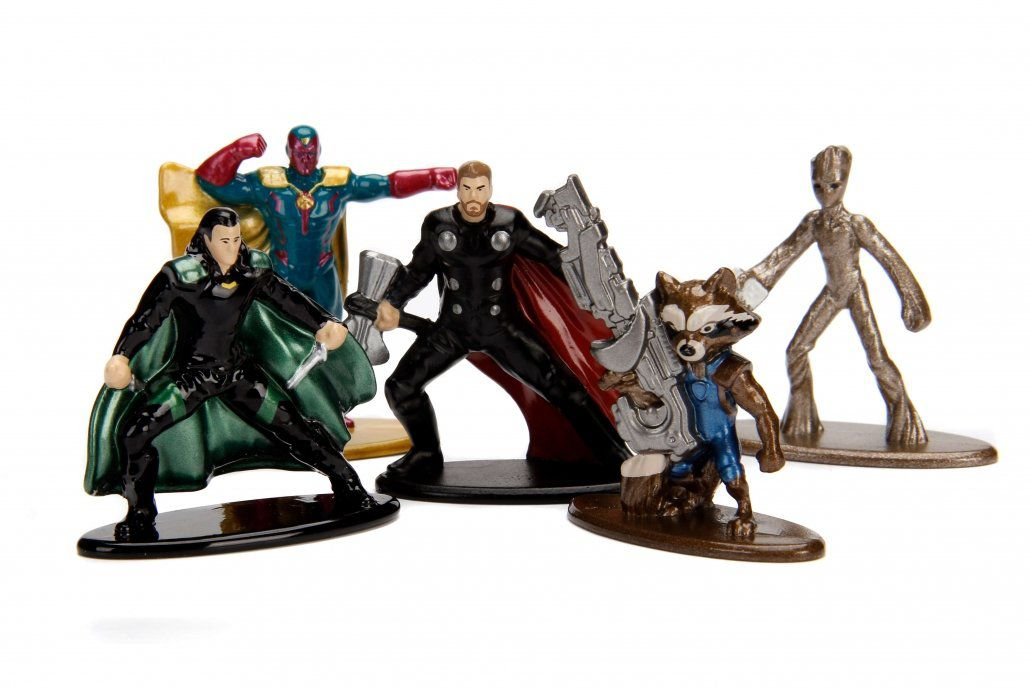 Nano Metalfigs: Vingadores Guerra Infinita (Avengers Infinity War) Marvel Pack B (Set de 5) - DTC