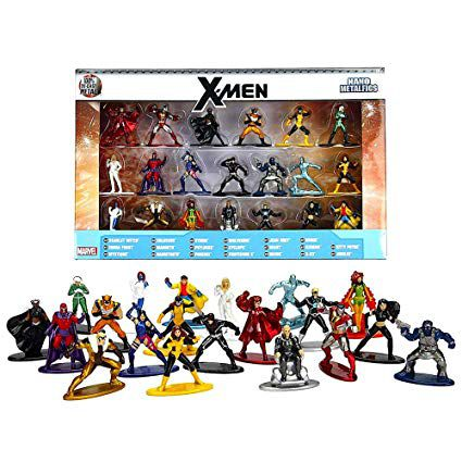 Nano Metalfigs: X-Men (Set de 20) Marvel - Jada Toys