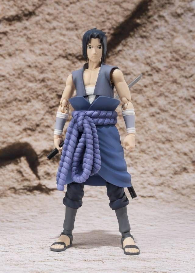 Boneco Uchiha Sasuke (Itachi battle): Naruto Shippuuden S.H.Figuarts Escala 1/12 - Bandai