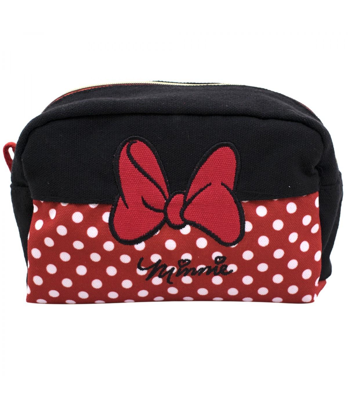 Necessaire Bolinhas Minnie Mouse: Minnie e Mickey Mouse - Disney
